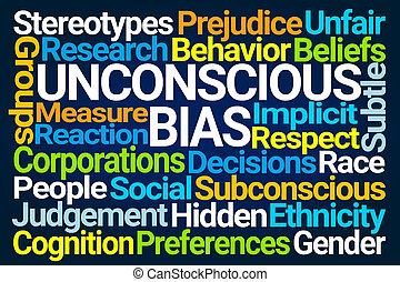 mot, inconscient, bias, nuage