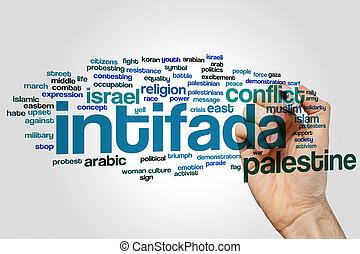 mot, intifada, nuage