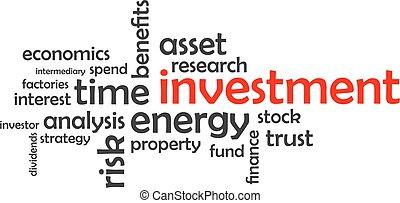 mot, -, investissement, nuage