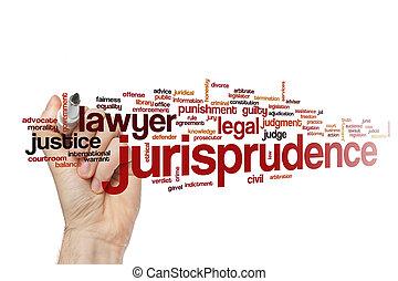 mot, jurisprudence, nuage