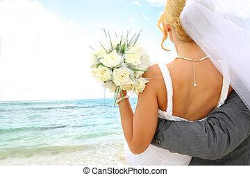 mot, just, par, gift, se, framtid