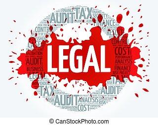 mot, légal, nuage