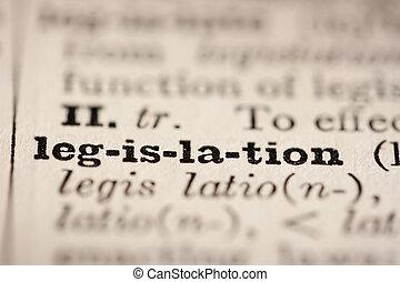 mot, législation
