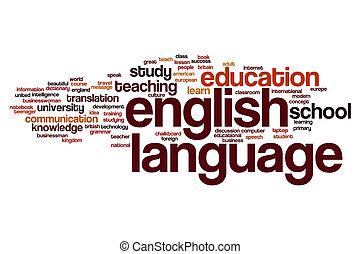 mot, langue, nuage, anglaise