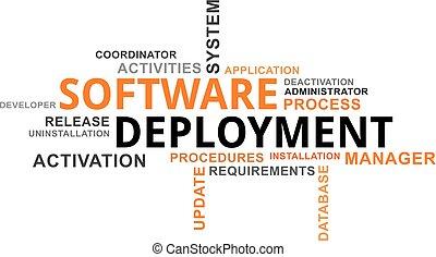 mot, logiciel, -, nuage, déploiement