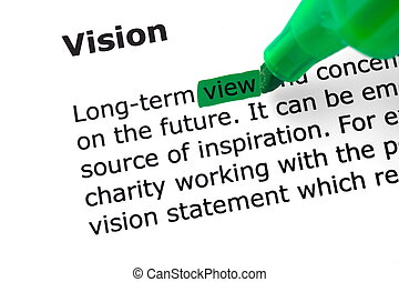 mot, mis valeur, vision, vert