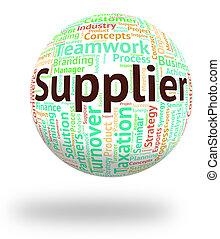 mot, moyens, commerçant, distribuer, détaillant, fournisseur