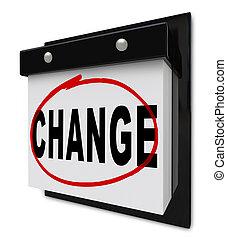 mot, mur, motivates, calendrier, vous, changement, améliorer