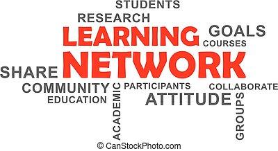 mot, -, nuage, apprentissage, réseau