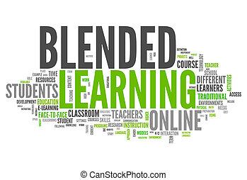"""mot, nuage, """"blended, learning"""""""