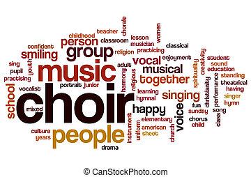 mot, nuage, chœur