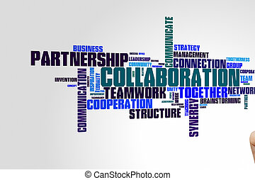 mot, nuage, collaboration