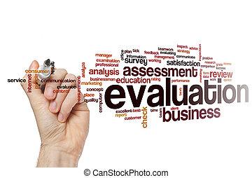 mot, nuage, concept, évaluation