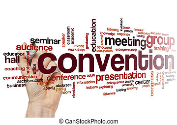 mot, nuage, convention