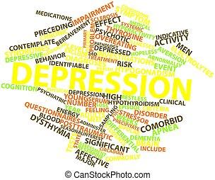 mot, nuage,  dépression