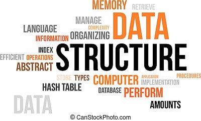 mot, nuage, -, données, structure