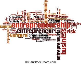 mot, nuage, entrepreneurship