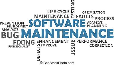 mot, -, nuage, entretien, logiciel