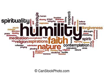 mot, nuage, humilité