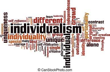 mot, nuage, individualisme