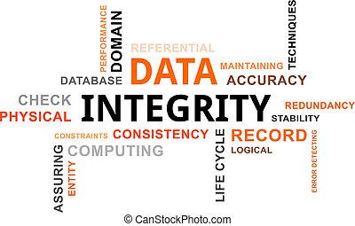 mot, -, nuage, intégrité, données