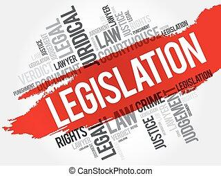 mot, nuage, législation