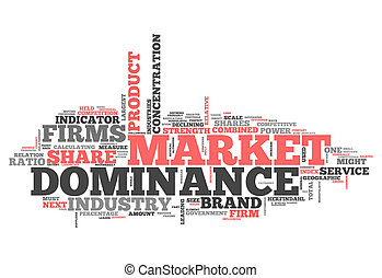mot, nuage, marché, dominance