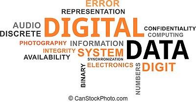 mot, nuage, -, numérique, données