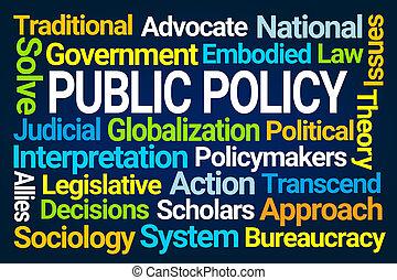 mot, nuage, politique, public