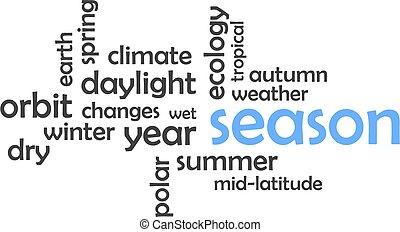 mot, -, nuage, saison