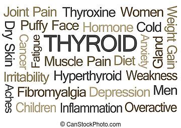 mot, nuage, thyroïde