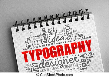 mot, nuage, typographie, collage