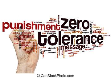 mot, nuage, zéro, tolérance