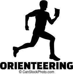 mot, orienteering, silhouette