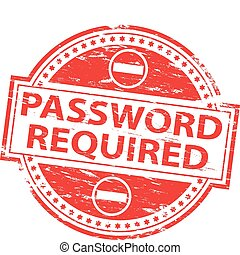 mot passe, timbre, requis