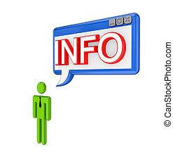mot, personne, info., pc, fenêtre, petit, 3d