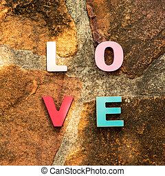 mot, pierre, amour, plancher
