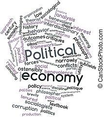 mot, politique, nuage, économie
