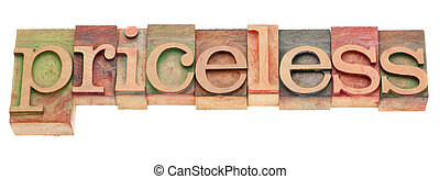 mot, pricesless, type, letterpress