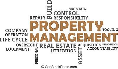 mot, propriété, -, nuage, gestion