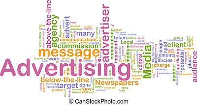 mot, publicité, nuage