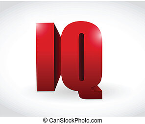 mot, q.i., texte, illustration, conception, 3d