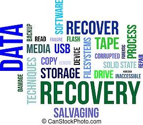 mot, -, récupération, nuage, données