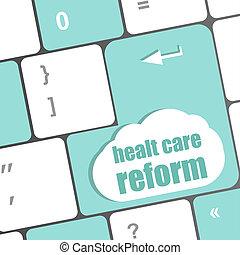 mot, reform, informatique, santé, clã©, clavier, soin,...