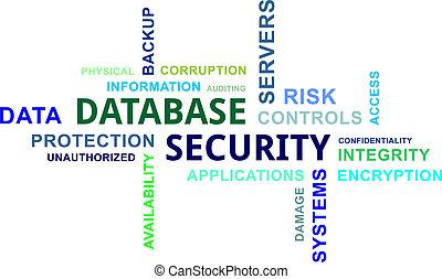 mot, sécurité, -, nuage, base données