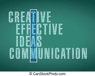 mot, sélection, conception, illustration, équipe