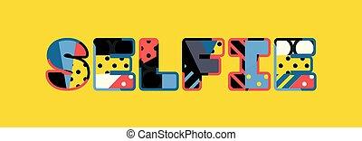 mot, selfie, concept, art, illustration