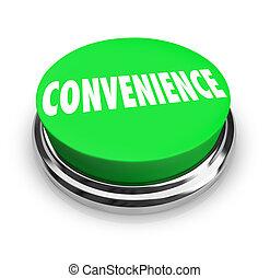 mot, service, jeûne, commodité, buton, vert, facile, rond