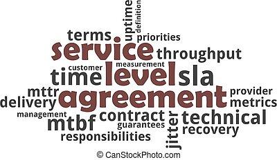 mot, service, niveau, -, accord, nuage