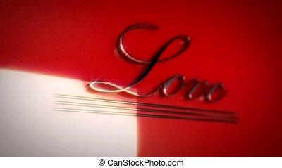 mot, style, amour, écrit, retro